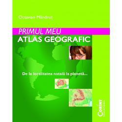 Atlasul se adreseaza elevilor din ciclul primar interesati de geografie putand fi utilizat nu numai in clasa a IV-a pe parcursul intregului an scolar ci si in continuare in clasa a V-a De asemenea poate fi folosit de catre invatatori ca suport didactic pentru orele de geografieLucrarea de fata pastreaza esenta programei scolare de geografie fiind primul atlas al elevului in care hartile prezentate sunt ordonate de la localitatea natala la planetaAtlasul este