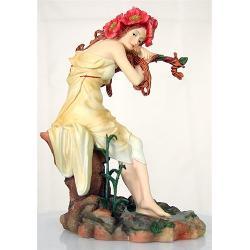Statueta (Polystone) Mucha Vara 22cm MUC05