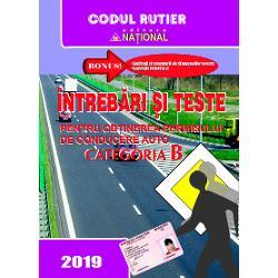 Cartea Intrebari si teste cu raspunsuri 2017 pentru Categoria B cuprinde modificarile aduse legii circulatiei in vigoare de la 15 Ianuarie 2015Lucrarea de fata este adaptata la noua legislatie rutiera din Romania