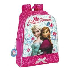 Ghiozdan scoala colectia Frozen II DisneyGhiozdan scoala din colectia Frozen Disney are doua compartimente bretele ajustabile bareta de mana Pe fata sunt imprimate cele doua printese Anna si ElsaMaterial poliesterDimensiuni 32x42x14 cm
