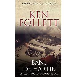 """""""Bani de hartie"""" este un roman ingenios construit cu o structura inteligenta si minutios elaborata Crima si infractionalitatea afacerile financiare la nivel inalt si jurnalismul se intrepatrund periculos si intr-o maniera corupta in acest roman timpuriu al celebrului Ken Follett care reuseste sa creioneze prin intermediul catorva personaje bine alese un tablou sugestiv al societatii Londrei anilor '70 Cercul vicios in care interactioneaza"""