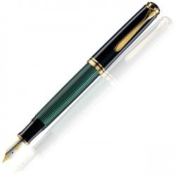 Stilou Souveran M800 M,penita aur 18K,accesorii placate cu aur,corp negru-verde 986539 imagine librarie clb