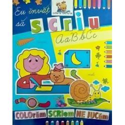 Carte de colorat educativa cu ajutorul careia cei mici vor invata sa scrieCartea este in format A4 avand o calitate grafica deosebita fiind imprimata pe hartie rezistenta potrivita pentru cei mici