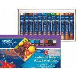Creioane pastel TOPPOINT -12 culori12 culori intense rezistente la apa fiecare creion este invelit in hartieLungime creion 7 cmAmbalaj cutie carton Produs de Toppoint-Germania