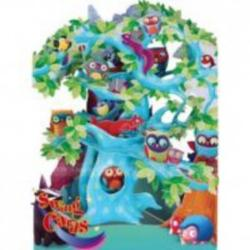 Felicitare woodland tree of birds SC129 imagine librarie clb
