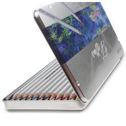 Creioane colorate in caseta de metalSet 12 culoriDiametru grif 32mmNu sunt recomandate copiilorcu virsta sub 3 ani