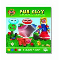 Set 4 culori plastilina de modelat Soft Clay Set de plastilina soft cu uscare rapida la aer Nu se sparge nu mai poate fi refolosita 4 culori pe set