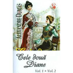 """""""Cele doua Diane"""" despre care povesteste Alexandre Dumas tatal sunt Diana de Poitiers amanta favorita a lui Henric al II-lea si fiica ei Diana de Castro Principalul erou masculin al istoriei este Gabriel care afla la 18 ani ca e de fapt conte de Montgomery Desi personajele sunt inspirate din realitatile secolului al XVI-lea romanul este totusi o fictiune Este o lectura fabuloasa cu iubiri carora soarta le e potrivnica mistere tradari si"""