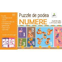 Înv&259;&539;area numerelor de la 1 la 10 e acum mai distractiv&259; Acest puzzle cu 32 de piese uria&537;e cu numere &537;i animale se va îmbina perfect pe podeaua din camera copiluluiPuzzle-ul m&259;soar&259; 18 metri lungime Cartea de activit&259;&539;i inclus&259; reprezint&259; un pas premerg&259;tor rezolv&259;rii puzzle-ului familiarizându-l pe copil cu numerele de la 1 la 10 &537;i cu rela&539;ia dintre num&259;r &537;i