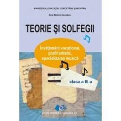 """Seria de manuale """"Teorie &351;i solfegii"""" este destinat&259; elevilor care"""