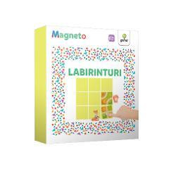 Magneto • Labirinturicon&539;ine piese magnetice cu ajutorul c&259;rora copilul trebuie s&259; g&259;seasc&259; solu&539;ii la problemele propuse &537;i s&259; creeze astfel peste 70 de trasee posibile între personajele de pe tabl&259; Traseele au diferite nivele de dificultate jocurilepropuse sunt potrivite pentru copii de 4 pân&259; la 7 ani Rezolvarea puzzle-urilor magnetice contribuie la exersarea gândirii logice