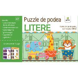Înv&259;&539;area alfabetului e acum mai distractiv&259; Acest puzzle cu 31 de piese uria&537;e cu litere se va îmbina într-un cerc perfect pe podeaua din camera copilului Puzzle-ul are diametrul de 13 metriCartea de activit&259;&539;i inclus&259; reprezint&259; un pas premerg&259;tor rezolv&259;rii puzzle-ului familiarizându-l pe copil cu literele alfabetului limbii române &537;i ajutându-l s&259; identifice coresponden&539;a