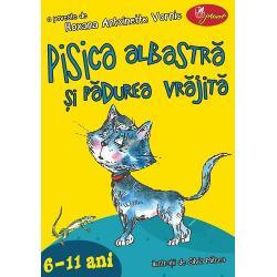 Pisica albastr&259; &351;i p&259;durea vr&259;jit&259; este o poveste din zilele noastre în care pisica Mira &351;i prietenii s&259;i – papagalul Socrate dul&259;ul Nelson hamsterul Star motanul Mic&351;unel vulpea Iva Fluturelle Ursoaica bufni&355;a Ulla &351;i m&259;re&355;ul Lup Alb ne îndeamn&259; s&259;-i înso&355;im într-o c&259;l&259;torie plin&259; de fantezieA&351;adar s&259; p&259;trundem u&351;or cu gândul
