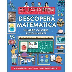 Ai vrea s&259; devii un geniu al matematicii cum nu s-a mai v&259;zutDescoper&259; cum s&259; g&259;se&537;ti centrul unui cerc cum po&539;i s&259; construie&537;ti o piramid&259; cum s&259; te deprinzi cu limbajul calculatoarelor cum s&259; desenezi o iluzie optic&259; &537;i multe altele&206;n aceast&259; carte plin&259; de informa&539;ii &537;i de realit&259;&539;i fascinante vei g&259;si 30 de experimente uimitoare &537;i vei &238;nv&259;&539;a s&259;