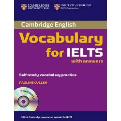 Cambridge Vocabulary for IELTS covers the vocabulary needed by students taking the IELTS test It provides students with practice of test tasks from each paper It includes useful tips on how to approach IELTS exam tasks and covers especially tricky areas such as the language needed to describe data and processes It is informed by the Cambridge International Corpus and the Cambridge Learner Corpus to ensure that the vocabulary is presented in genuine contexts and includes real