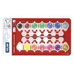 Acularele tip guase14 culori a c&226;te 5 ml fiecare;cutia con&539;ine 1 pensul&259; seria 101