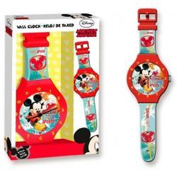 Ceas de perete Mickey Mouse 47cmMickey Mouse te priveste mereu si-ti aminteste de trecerea timpului Un frumos ceas de pus pe perete in camera taCeasul necesita 1 baterie 2AA bateriile nu sunt incluseDimensiune 47 cmbr