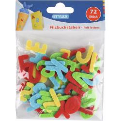 Set 72 litere din fetru 46458Litere din fetru colorat-72 bucati inaltime litera 25 cm