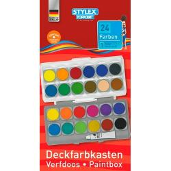 Acuarele Toppoint 24 culori cu paleta incorporata in capacCapaculpaleta este detasabilInclude un tub de culoare albaSe livreaza fara