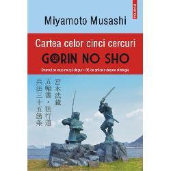 Cu pu&355;in timp înainte de a muri samuraiul Miyamoto Musashi se retrage în pe&351;tera Reigand&333; din regiunea Kumamoto unde scrie Cartea celor cinci cercuri – Gorin no Sho Tradus&259; de-a lungul anilor în numeroase limbi lucrarea pe care acest legendar maestru al sabiei a l&259;sat-o posterit&259;&355;ii este atît un manual de strategie cît &351;i o incursiune în filosofia artelor mar&355;iale Musashi descrie tehnici