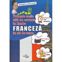 Cu ajutorul acestei lucrari ilustrate copiii vor invata primele cuvinte in limba franceza • numerele• culorile • corpul• hainele• familia• in casa• in oras• in parc• mijloacele de transport• la supermarket• legumele si fructele• animale salbatice si