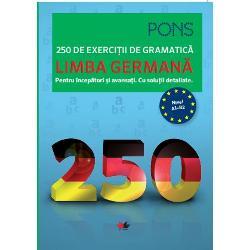 &160;Gramatica practic&259; &8211; programul exerci&539;iilor de succes- Exersa&539;i folosirea corect&259; a tuturor categoriilor gramaticale prin intermediul celor 250 de exerci&539;ii&160;- Alege&539;i exerci&539;iile potrivite pentru nivelul cuno&537;tin&539;elor dumneavoastr&259; de limba german&259; de la A1 &238;ncep&259;tori la B2 avansa&539;i&160;- &206;mbog&259;&539;i&539;i-v&259; cuno&537;tin&539;ele urm&259;rind numeroasele explica&539;ii