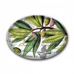 Savoniera din sticla frumos colorata si usor curbataEste usor translucida  Marime produs 1078 cm X 1588 cm