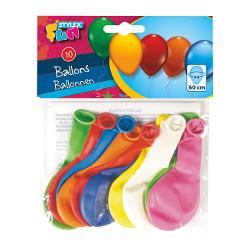 Set 10 baloane culori diverseCircumferinta baloanelor dupa umflare 65 cm