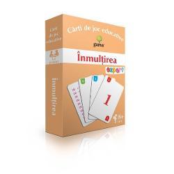 Pachetul con&539;ine·40 de carduricu numere de la 1 la 10; ·10 carduricu tabla înmul&539;iriiScopul jocurilor propuse este familiarizarea copiilor cu tabla înmul&539;irii într-un mod antrenant &537;i distractiv
