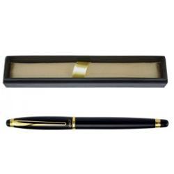 Stilou Daco metalic ST103 negru cu insertii auriiPenita iridium rezistenta cu scriere finaSe incarca cu patron standard
