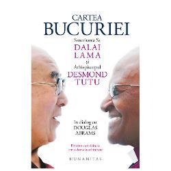Sanctitatea Sa Dalai Lama &351;i Arhiepiscopul Desmond Tutu ambii laurea&355;i ai Premiului Nobel pentru Pace &351;i mae&351;tri spirituali ai epocii noastre au supravie&355;uit mai mult de cincizeci de ani exilului violen&355;ei &351;i opresiunii În pofida dificult&259;&355;ilor — &351;i datorit&259; lor — nu au încetat s&259; cultive optimismul dragostea &351;i bucuria În aprilie 2015 Arhiepiscopul l-a vizitat pe Dalai Lama la