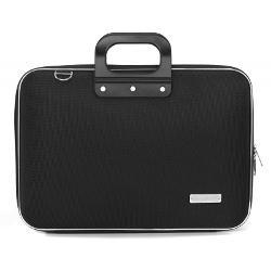 Geanta lux business laptop 156 in Clasic nylon Bombata-Negru&160;este o geanta de marime medie ideala pentru o tableta sau un laptop de 156