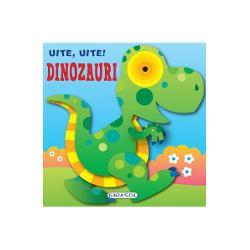O carte cu pagini cartonate ideala pentru cele mai mici manuteCei mici vor decoperi primele informatii despre dinozauri in texte scurte cu scris de tipar si pagini viu colorate