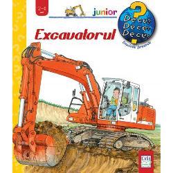Excavatoarele &537;i buldozerele sunt printre cele mai fascinante vehicule de pe un &537;antierCum arat&259; un excavator pe ro&539;i Dar unul pe &537;enile Cum se deplaseaz&259; aceste ma&537;ini de lucru de pe un &537;antier la altul Ce poate face un excavator Cu ajutorul ilustra&539;iilor &537;i a ferestrelor explicite copiii vor afla multe detalii despre cum se ata&537;eaz&259; diverse unelte de bra&539;ul excavatorului &537;i la ce folosesc ele