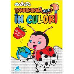 O carte de activit&259;&539;i superamuzant&259; pe care copiii o pot colora f&259;r&259; se se murd&259;reasc&259;Când cei mici vor deschide aceast&259; carte de colorat vor vedea ni&537;te ilustra&539;ii foarte nostime alc&259;tuite din punctule&539;e gri Îndemna&539;i-i s&259; ia pu&539;in&259; ap&259; &537;i s-o întind&259; pe pagini cu o pensul&259; sau cu dege&539;elele &537;i vor vedea ap&259;rând deodat&259; cele mai