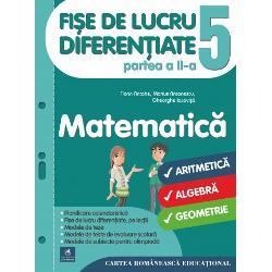 Culegerea deFi&537;e de lucru diferen&539;iate pentru clasa a V-ala Matematic&259;este o NOUTATE METODIC&258; &536;I EDITORIAL&258; în conformitate cu noua program&259; &537;colar&259; propunând organizarea activit&259;&539;ilor de înv&259;&539;arepentru fiecare lec&539;iedin planificarea calendaristic&259; prin intermediul fi&537;elor de lucru &537;i