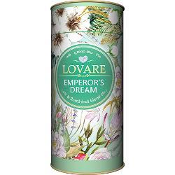 Emperors Dreams Amestec de ceai verde flori de iasomie &537;i coaj&259; de mandarine Frunze de ceai verde chinezesc; coaj&259; de mandarine flori de iasomie arom&259; natural&259; de mandarine Are 15 filtre pentru preparare infuzie incluse