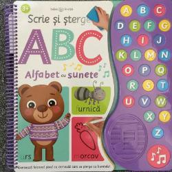 Scrie &537;terge &537;i &238;nvata literele alfabetului cu aceast&259; carte interactiv&259; Fiecare activitate &238;l va ajuta pe micu&539;ul t&259;u s&259; recunoasc&259; &537;i s&259; scrie literele alfabetului &238;n timp ce ascult&259; sunetele corespunz&259;toare &537;i descoper&259; cuvinte &238;n care se reg&259;sesc acesteaCon&539;ine 26 de sunete &537;i o melodie pe care po&539;i c&226;nta alfabetul