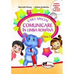 Caiet special de comunicare in limba romana pentru clasa I Efefantel