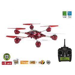 Drona Skyrover Hexa 60 cu camera videoeste o drona de dimensiuni mari cu multe functii posibile Drona este actionata de o radiocomanda cu 4 canale de captareDimensiunile aprox 555 x 32 x 8cm