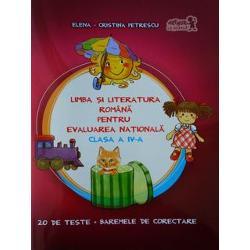 Lucrarea este un auxiliar eleborat cu scopul de a dezvolta competen&539;ele de lectur&259; &537;i de a îndruma eficient preg&259;tirea elevilor de clasa a IV-a pentru Evaluarea Na&539;ional&259; atât în sala de clas&259; cât &537;i acas&259; Auxiliarul con&539;ine 20 de teste pentru proba de limba român&259; având ca suport 12 texte literare 8 în proz&259; &537;i 4 lirice &537;i 8 texte non-literare