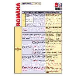 Pliantul de limba romana nr 6 contine elemente de fonetica notiuni teoretice si exemple de utilizare