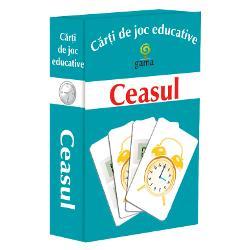 Carti de joc educative - Ceasul contine 6 carduri de invatare a ceasului 22 de perechi ceas digital-ceas mecanic jocuri cu diferite grade de dificultate Pescuieste Cronos La timp