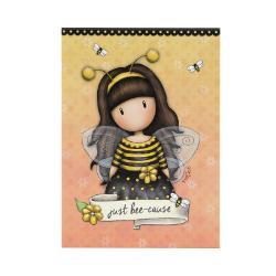 Bloc notes Gorjuss Bee Loved un carnetel special pentru cele mai frumoase notite Bloc notes-ul contine 250 pagini cu liniatura dictando in decor de albinuta pe fiecare pagina&160;Dimensiuni - 125x9x3 cm&160;