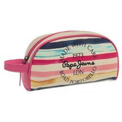 Penar 215 cm Pepe Jeans Hallia - culoare roz & bej dimensiune 215x12x55 cm material piele ecologica 1 compartiment maner lateralSpecificatiiTipPenar