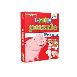 Puzzle-ul con&539;ine20 piese de mari dimensiuni potrivite pentru copiii cu vârsta peste 18 luni Acestea se potrivesc câte dou&259; astfel încât s&259; alc&259;tuiasc&259; 10animale domesticePotrivit înc&259; de la 12 luni puzzle-ul dezvolt&259;abilit&259;&539;ile cognitiver&259;bdarea&537;iprecizia
