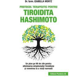 Diagnosticat&259; cu Hashimoto la 27 de ani dr farm Izabella Wentz autoarea fenomenalului bestseller Tiroidita Hashimoto cunoa&537;te at&226;t efectele bolii c&226;t &537;i limit&259;rile medica&539;iei Cheia &238;ns&259;n&259;to&537;irii sus&539;ine ea presupune schimbarea stilului de via&539;&259; &206;n Protocolul terapeutic pentru tiroidita Hashimoto ofer&259; un tratament testat care a ajutat zeci de mii de persoane s&259; se simt&259; mai bine