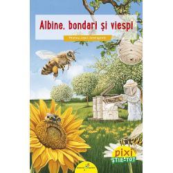 Pixi ne face cuno&537;tin&539;&259; cu cele mai simpatice auch insecteToate curiozit&259;&539;ile copiilor privind albinele bondarii &537;i viespile î&537;i vor g&259;si r&259;spunsul în aceast&259; c&259;rticic&259; Pe alocuri Pixi presar&259; &537;i câte o doz&259; de umor… în&539;ep&259;torCâte picioare au albinele Unde sunt plasate vasele lor de sânge