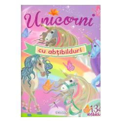 Umple paginile acestei carti magice cu abtibilduri nemaivazute si creeaza lumea feerica a unicornilorCartea contine 4 planse cu 134 abtibilduri si 23 de pagini cu scene si decor pregatit pentru ca tu sa creezi o poveste minunata