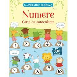 Aceast&259; carte distractiv&259; este cel mai bun mijloc de a-l &238;nv&259;&539;a pe cel mic primele numereEl poate num&259;ra al&259;turi de anim&259;lu&539;ele din carte &537;i poate lipi autocolante pe fiecare pagin&259;